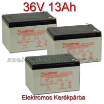 Leaftron 12V 13Ah Ciklikus zselés akkumulátor elektromos kerékpárba-36V-os csomag ingyen szállítással