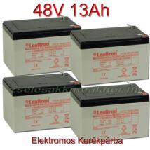 Leaftron 12V 13Ah Ciklikus zselés akkumulátor elektromos kerékpárba-48V-os csomag ingyen szállítással