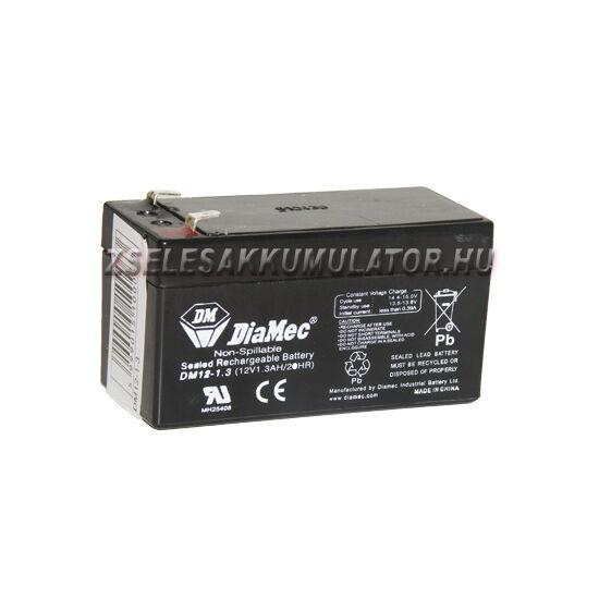 Diamec 12V 1,3Ah Zselés akkumulátor
