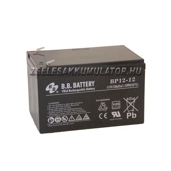 BB Battery 12V 12Ah  Ciklikus zselés akkumulátor elektromos kerékpárba
