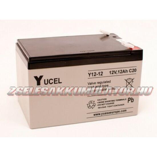Yuasa 12V 12Ah Zselés akkumulátor