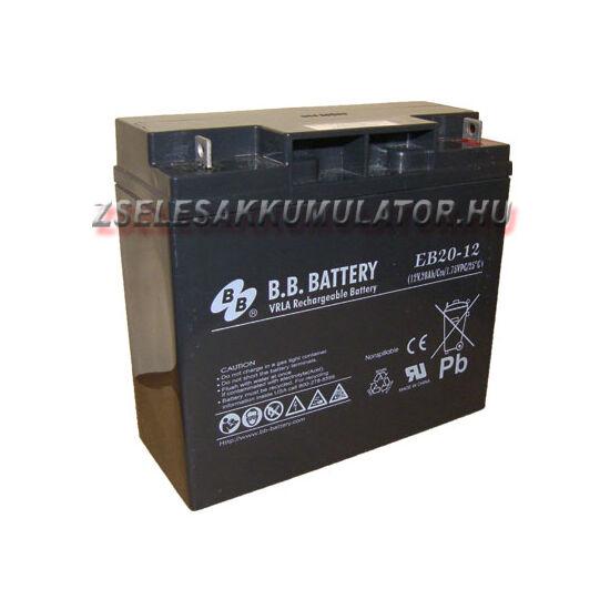 BB Battery 12V 20Ah Ciklikus zselés akkumulátor elektromos kerékpárba
