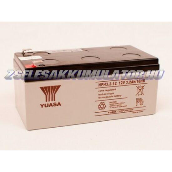 Yuasa 12V 3,2Ah Zselés akkumulátor