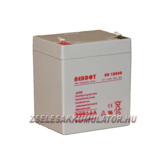 RedDot 12V 4Ah Zselés akkumulátor