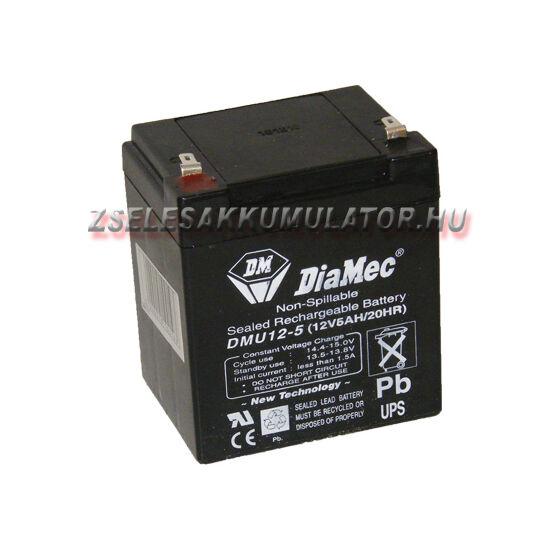 Diamec 12V 5Ah zselés akkumulátor