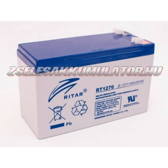 Ritar 12V 7Ah Zselés akkumulátor