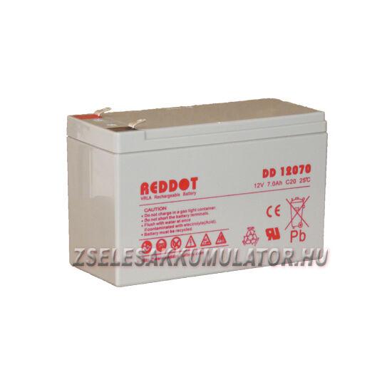 RedDot 12V 7Ah Zselés akkumulátor T2