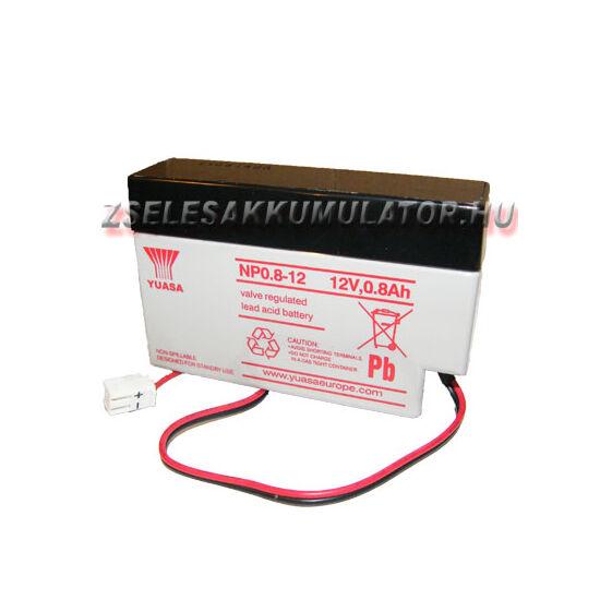Yuasa 12V 0,8Ah Zselés akkumulátor