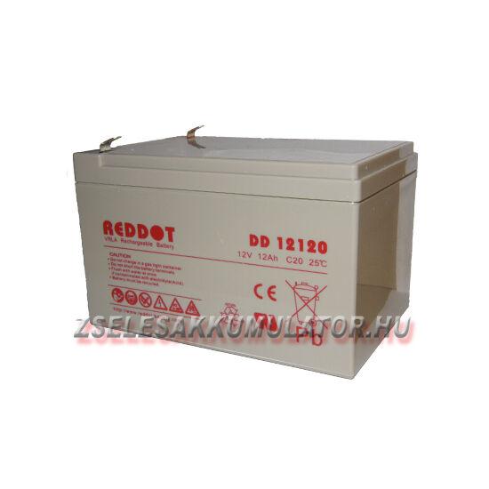 RedDot 12V 12Ah Zselés akkumulátor