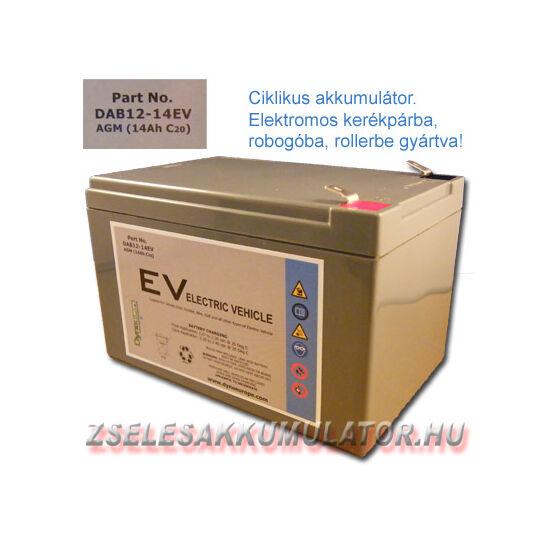 Dyno Battery 12V 14Ah Ciklikus zselés akkumulátor elektromos kerékpárba