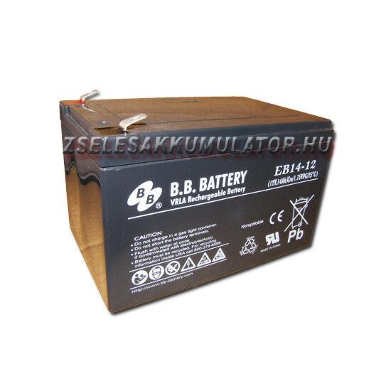 BB Battery 12V 14Ah Ciklikus zselés akkumulátor elektromos kerékpárba