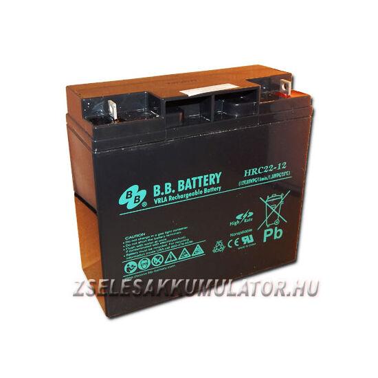 BB Battery 12V 22Ah Zselés akkumulátor