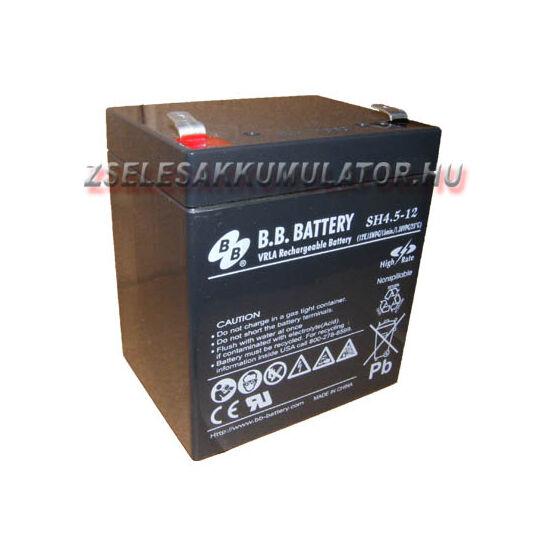 BB Battery 12V 4,5Ah Zselés akkumulátor T2