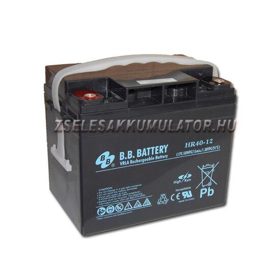 BB Battery 12V 40Ah HR40-12  Zselés akkumulátor