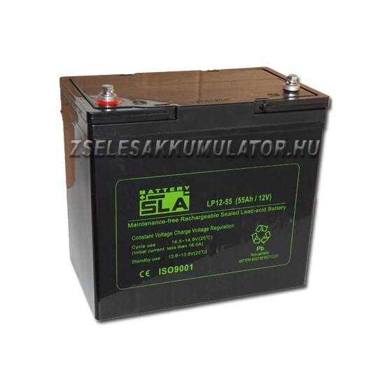12V 55Ah SLA zselés akkumulátor