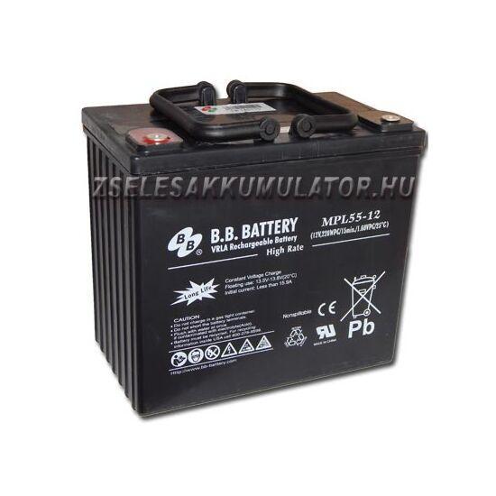 BB Battery 12V 55Ah Zselés akkumulátor HRL55-12