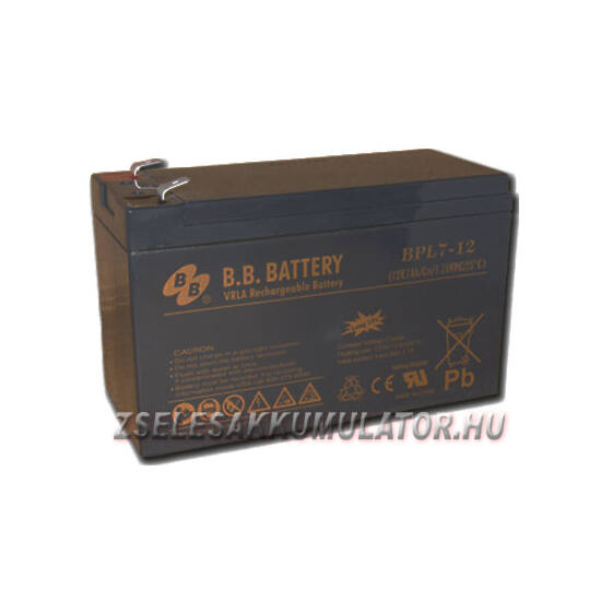 BB Battery 12V 7Ah Zselés akkumulátor