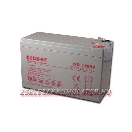 RedDot 12V 9Ah Zselés akkumulátor T1