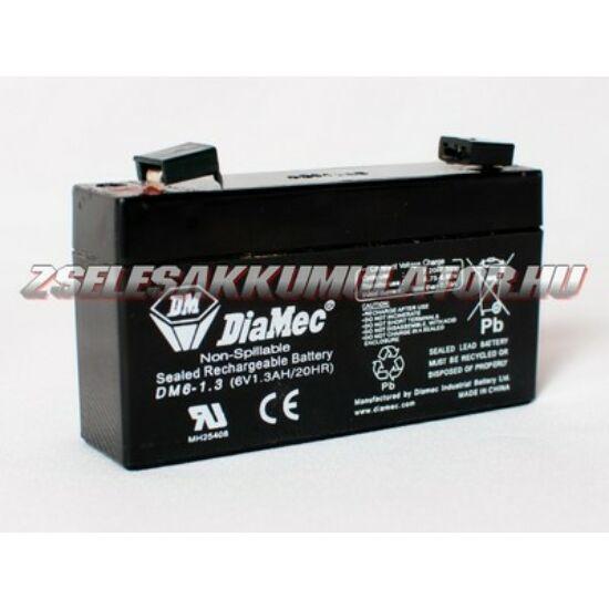 Diamec 6V 1,3Ah Zselés akkumulátor