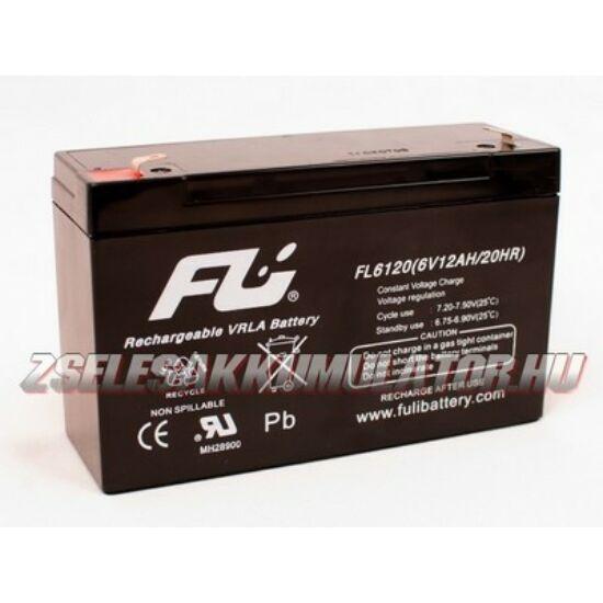 Sollysec 6V 12Ah Zselés akkumulátor