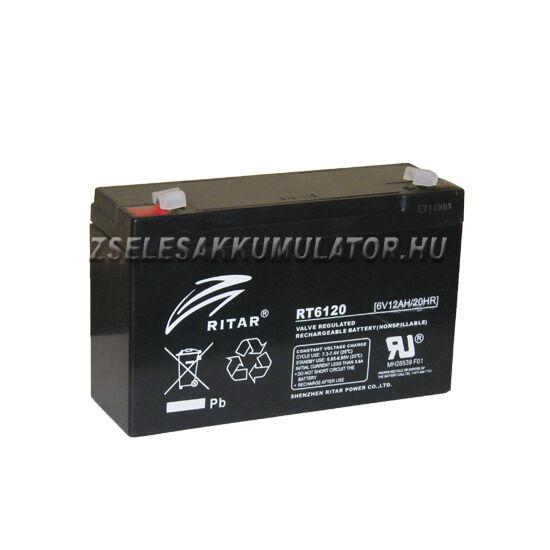 Ritar 6V 12Ah Zselés akkumulátor