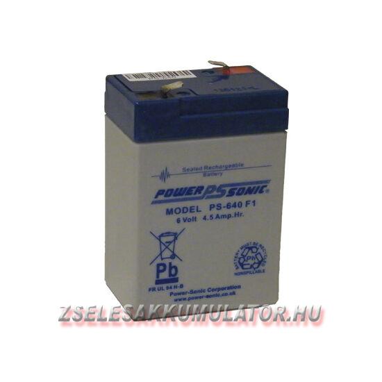 Power Sonic 6V 4,5Ah Zselés akkumulátor
