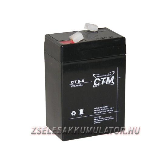 CTM 6V 5Ah Zselés akkumulátor