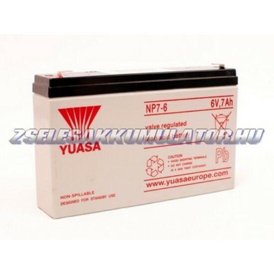 Yuasa 6V 7Ah Zselés akkumulátor