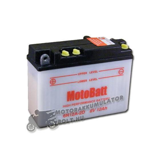 MotoBatt  6N12A-2D 6V 12Ah Motor akkumulátor