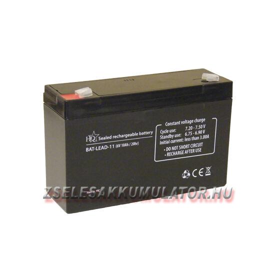 HQ 6V 10Ah Zselés akkumulátor