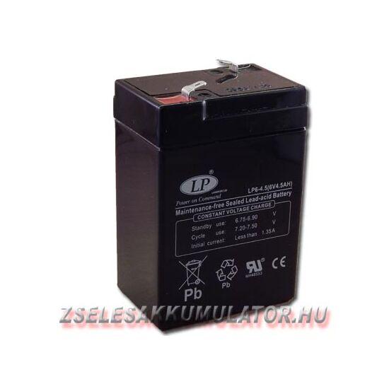 Landport 6V 4,5Ah Zselés akkumulátor