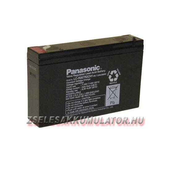 Panasonic 6V 7,2Ah Zselés akkumulátor