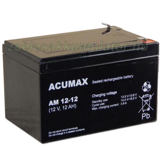 Acumax 12V 12Ah Zselés akkumulátor