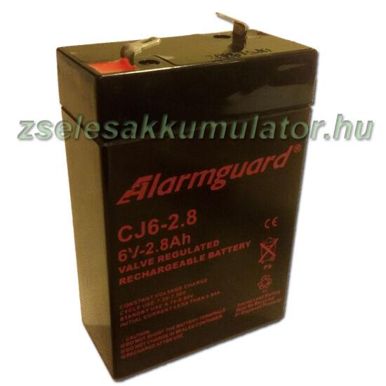 Alarmguard 6V 2,8Ah Zselés akkumulátor CJ 6-2,8