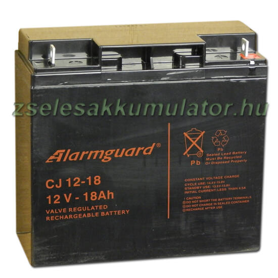 Alarmguard 12V 18Ah Zselés akkumulátor CJ 12-18