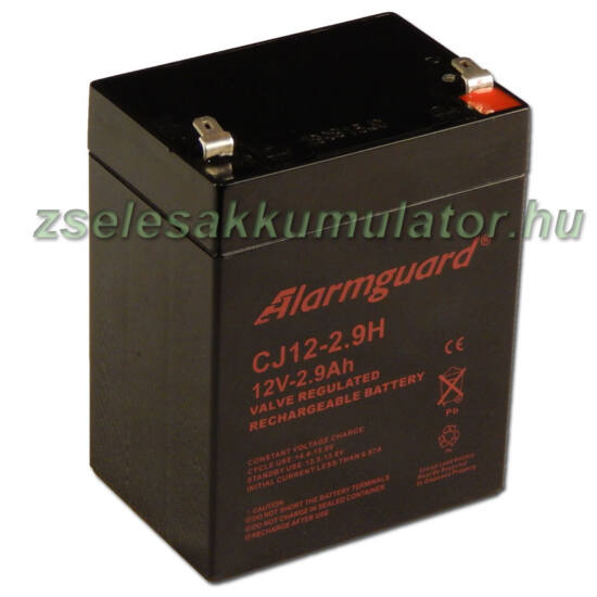 Alarmguard 12V 2,9Ah Zselés akkumulátor CJ 12-2,9