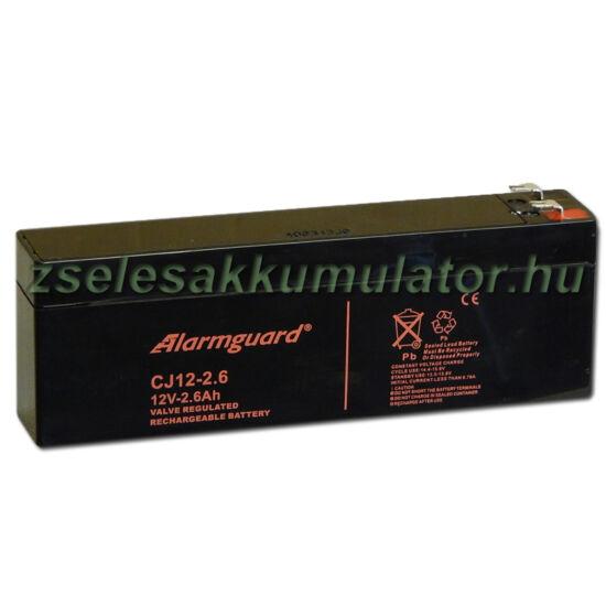 Alarmguard 12V 2,6Ah Zselés akkumulátor CJ 12-2,6
