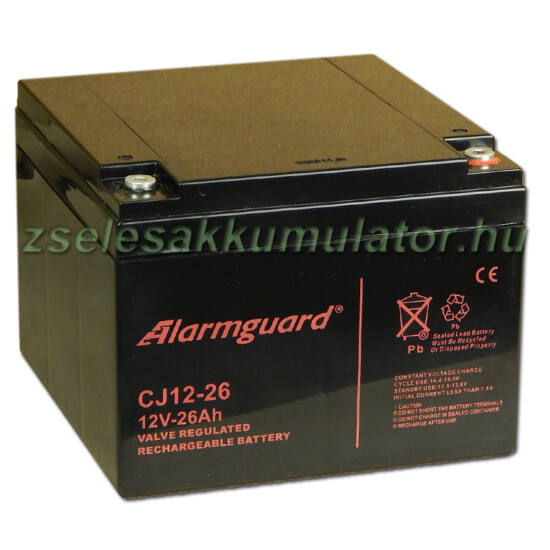 Alarmguard 12V 26Ah Zselés akkumulátor CJ 12-26