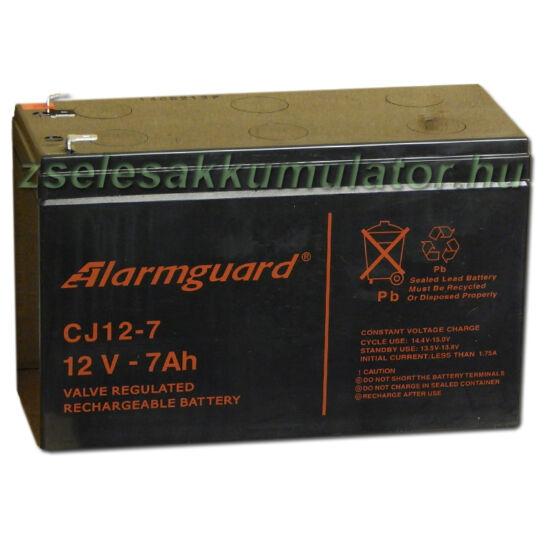 Alarmguard 12V 7Ah Zselés akkumulátor CJ 12-7