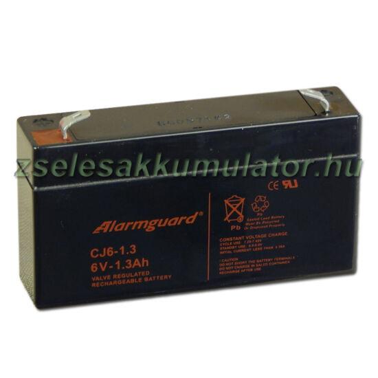 Alarmguard 6V 1,3Ah Zselés akkumulátor CJ 6-1,3