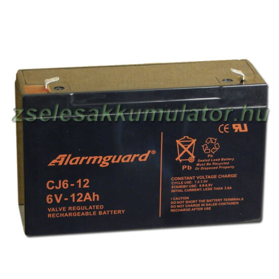 Alarmguard 6V 12Ah Zselés akkumulátor CJ 6-12