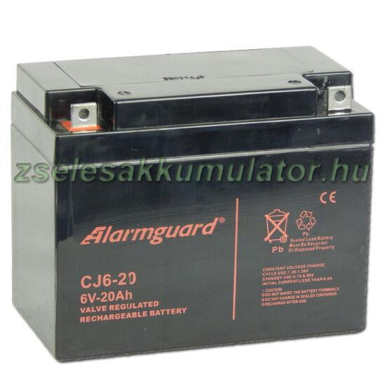 Alarmguard 6V 20Ah Zselés akkumulátor CJ 6-20
