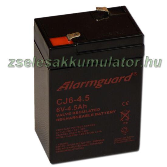 Alarmguard 6V 4,5Ah Zselés akkumulátor CJ 6-4,5