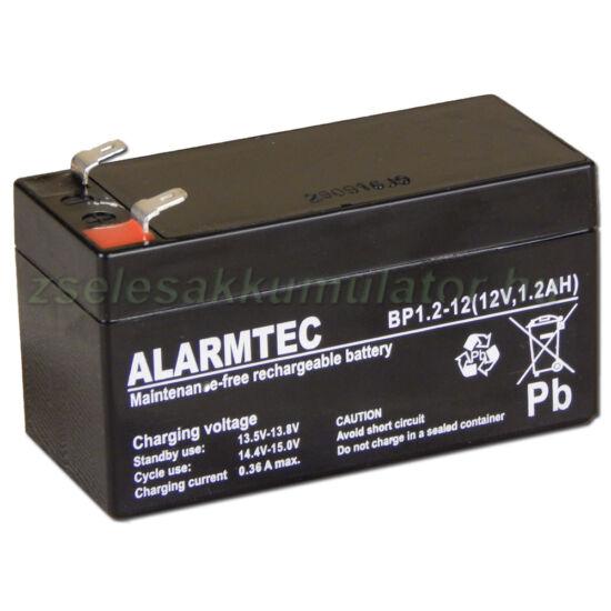 Alarmtec 12V 1,2Ah Zselés akkumulátor