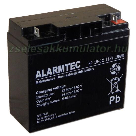 Alarmtec 12V 18Ah Zselés akkumulátor