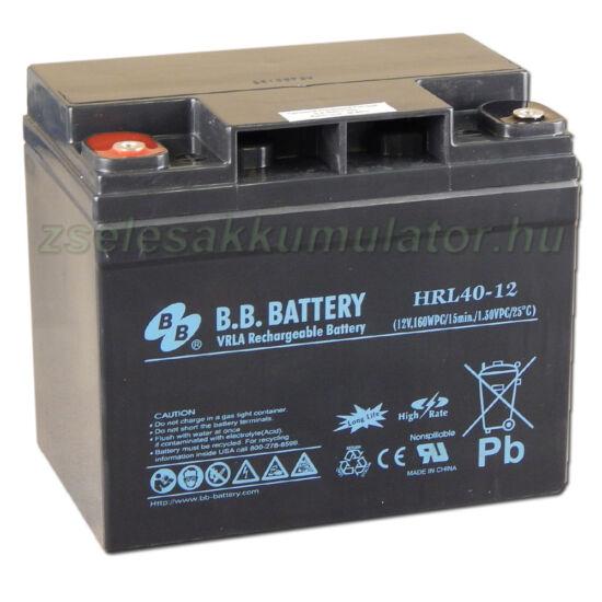 BB Battery 12V 40Ah HRL40-12 Longlife Zselés akkumulátor