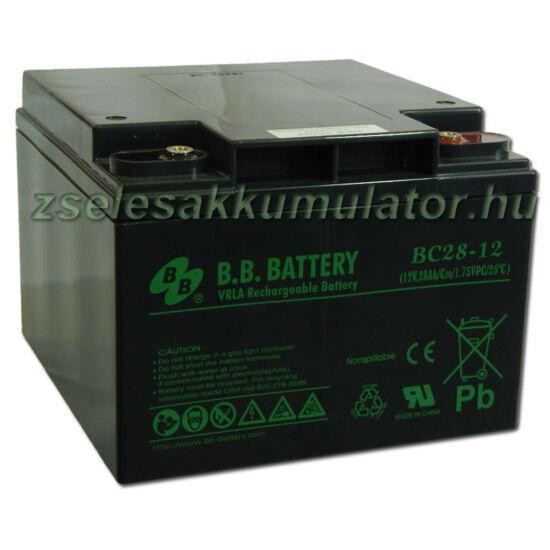 BB Battery 12V 28Ah Zselés akkumulátor BC28-12
