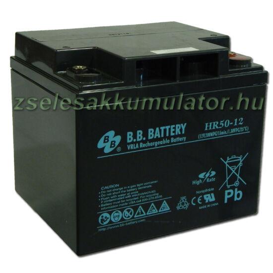 BB Battery 12V 50Ah Zselés akkumulátor HR50-12