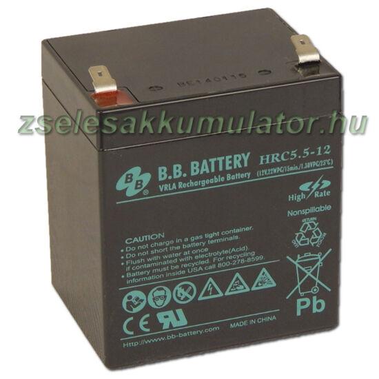 BB Battery 12V 5,5Ah Zselés akkumulátor
