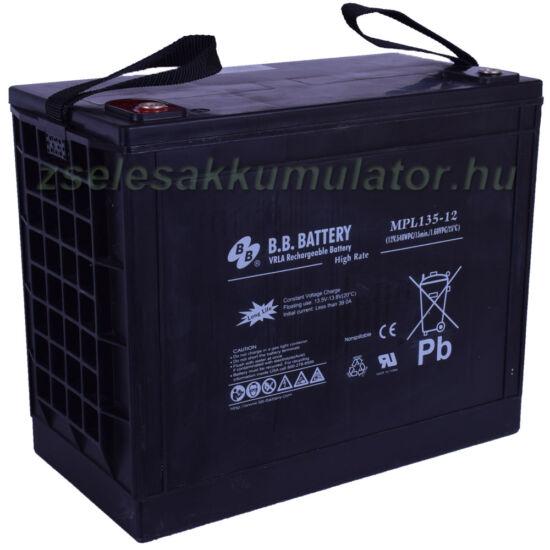 BB Battery 12V 135Ah Zselés akkumulátor MPL135-12